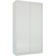 Шкафы-купе Лазурит белый двух-дверный 1814006009 - Командор